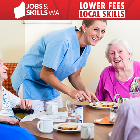 Working in aged care.