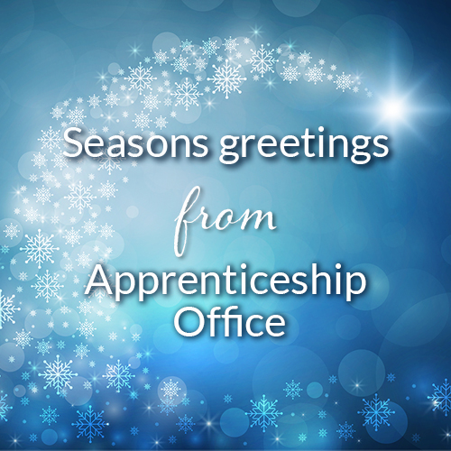 Seasons greetings from Apprenticeship Office