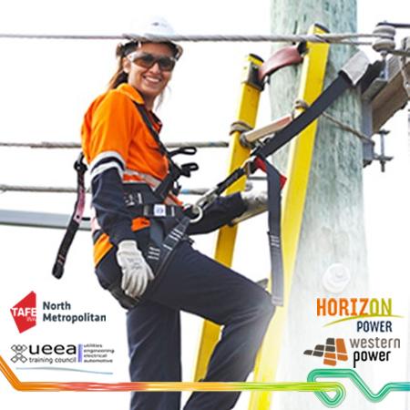 A female electrician.