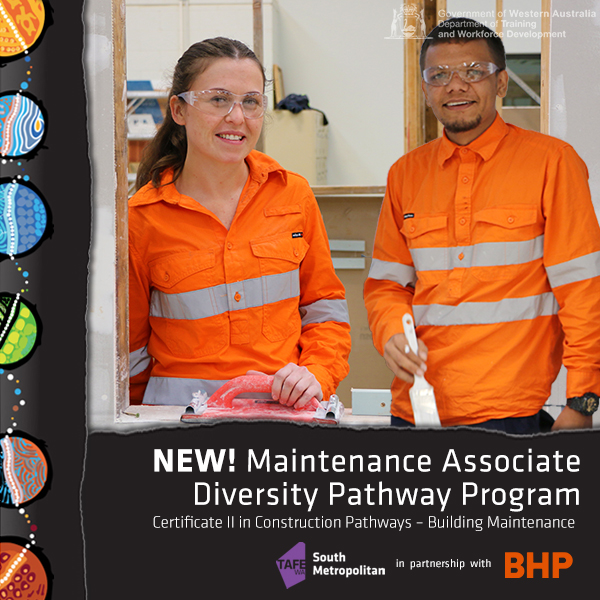 Kate and Tyler, partipants in the new Maintenance Associate Diversity Pathway Program.