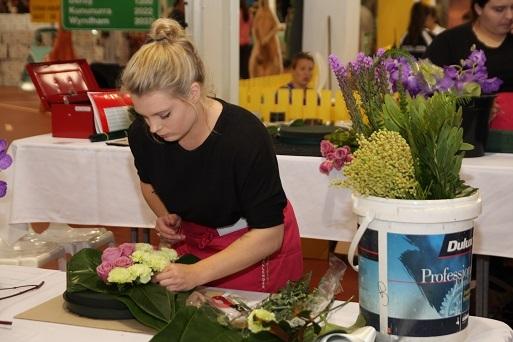 Amy Brown, silver medal winner, Floristry
