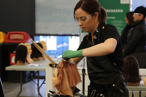 Sarah Tassone, bronze medal, Hairdressing