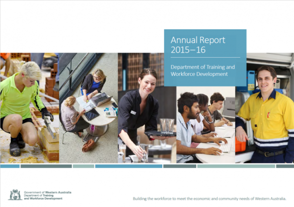 An image of the cover of the 2015-2016 annual report.