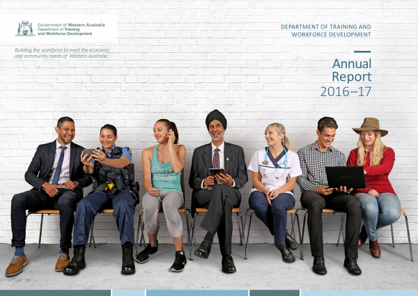 A picture of the cover of the 2016–2017 Annual report