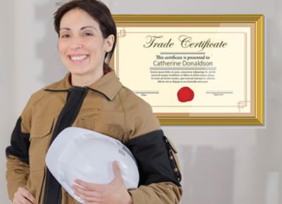 A female tradesperson.