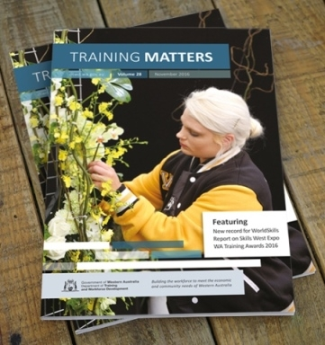 Cover of November issue of Training Matters