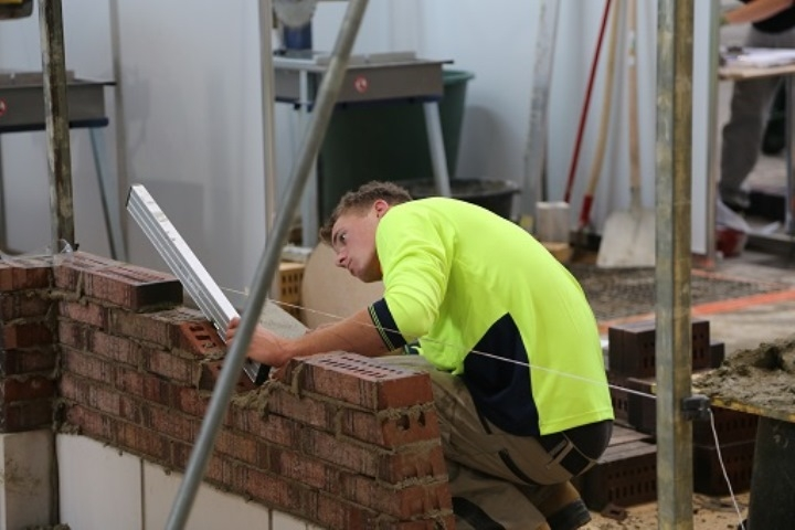 Alan Ramsden won a Medallion for excellence in Bricklaying at the 42nd WorldSkills competition in Leipzig, 2013.