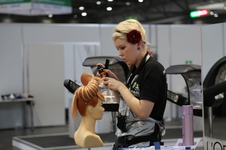 Jessamy Mooney won a Medallion for excellence for Hairdressing at the 42nd WorldSkills competition in Leipzig, 2013.