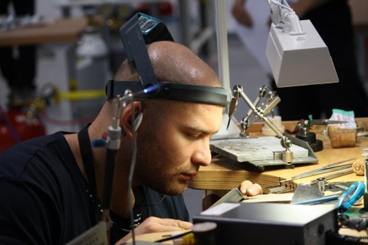 Tayron Scagnetti winner of the silver medal forJewellery at the 42nd WorldSkills Competition in Leipzig, 2013.