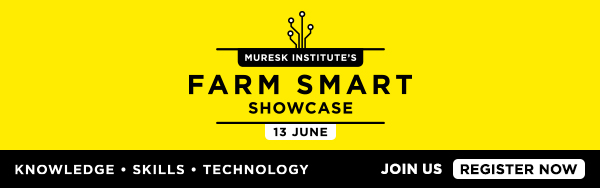 Button for Muresk Institute Farm Smart Showcase 13 June register now.