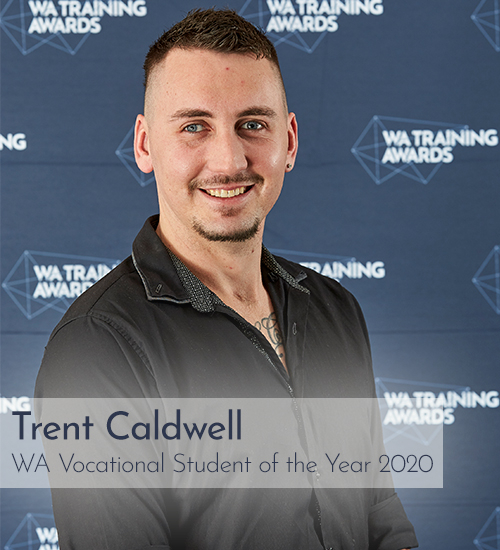 Trent Caldwell, 2020 WA Training Awards Vocational Student of the Year.