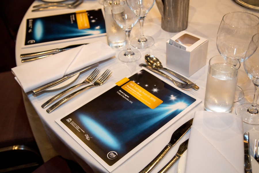 Table setting at the 2015 Presentation Dinner