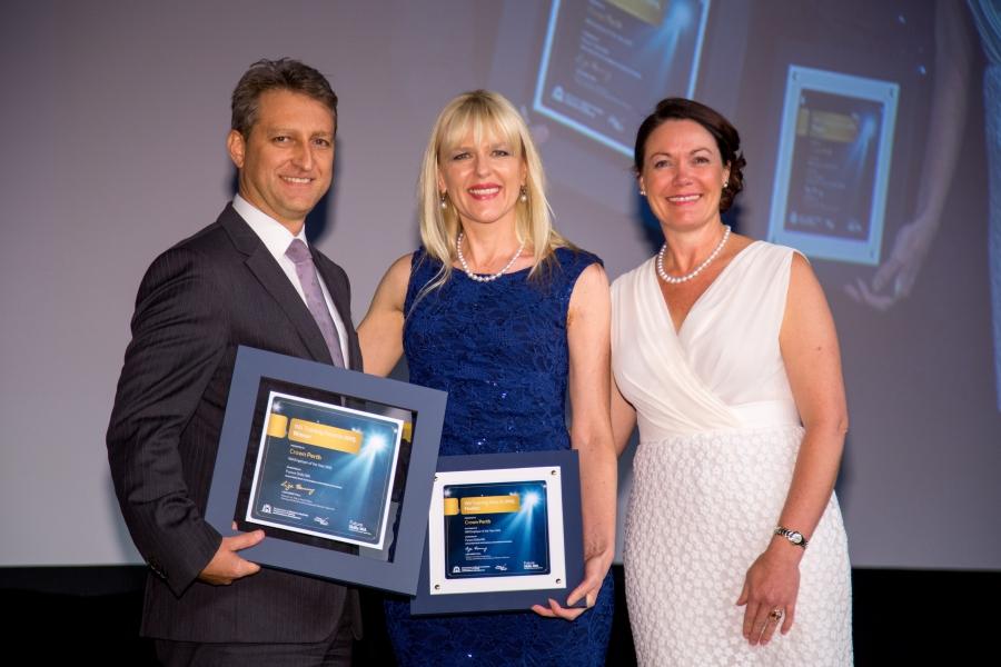 Crown Perth accepting their award